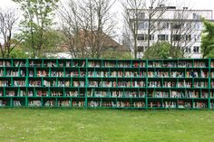 Bookyard- An Expansive Outdoor Public Library by Massimo Bartolini