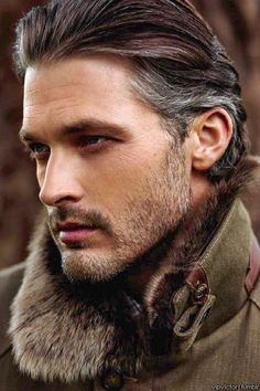 Ben Hill~ love, LOVE gray hair at the temples, and those fine lines fanning out from the eyes! We need older heroes on romance covers!