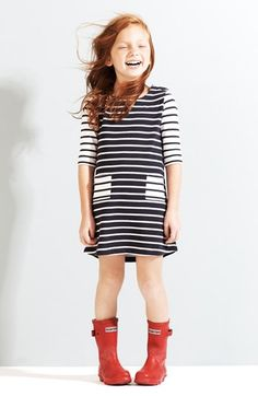Tucker + Tate Knit Dress & Hunter Packable Rain Boot (Little Girls & Big Girls) #wow #kid #style
