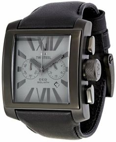 TW Steel Men's CE3014 CEO Goliath Black Leather Strap Watch TW Steel. $319.00. Durable mineral crystal protects watch from scratches. Metal case. Case diameter: 42 mm. Quartz movement. Water-resistant to 99 feet (30 M)
