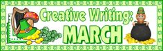 This 5 page creative writing banner will help you to create a colorful green bulletin board display of your students' writing assignments.  This banner comes with a matching student creative writing worksheet.