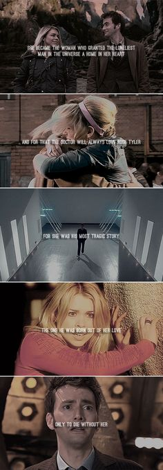 "The Doctor + Rose Tyler: She became the woman who granted the loneliest man in the universe a home in her heart. And for that the Doctor will always love Rose Tyler. <a class=""pintag searchlink"" data-query=""%23doctorwho"" data-type=""hashtag"" href=""/search/?q=%23doctorwho&rs=hashtag"" rel=""nofollow"" title=""#doctorwho search Pinterest"">#doctorwho</a>"
