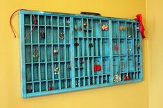 "What a fun way to store and display your jewelry!  Again with the Etsy...   shop is ""bluebirdheaven"" and cost is $118."