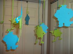 Monsters Inc Ceiling Decorations Sulley by MonarchPaperCreation, $8.99