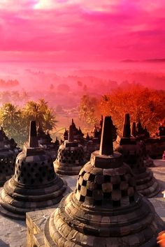 Borobudur Temple - A 9th-century Mahayana Buddhist Temple in Magelang, Central Java, Indonesia   Indonesia