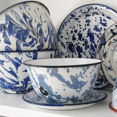 Blue & White Enamel