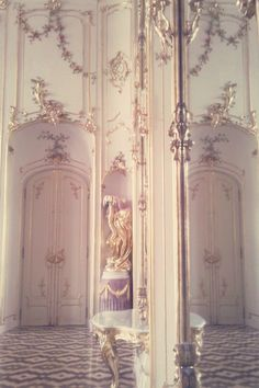 French Baroque molding of gold and white ~~ Ruby  That Inspirational Girl