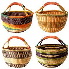 Ghanaian Bolga Farmers Market Shopper Basket