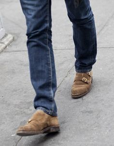 Need jean, fashion clothes, doubl monk, men cloth, street styles, men fashion, men shoes, sued doubl, brown boots