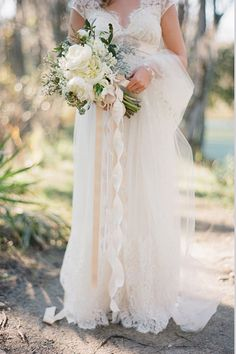 Ribbons of different textures have a romantic effect | Brides.com