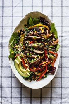 Grilled Veggie Fajita Salad | 30 Delicious Things To Cook In June