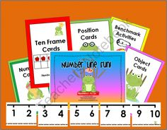 Leap Frog's Number Line Fun! Numbers 1 to 20 product from A_Teachers_Idea on TeachersNotebook.com