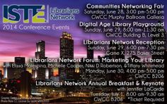 Lots of great events for librarians at ISTE 2014!
