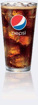 Pepsi in a glass