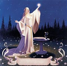 Tolkien Calendar May 1976 Ring of Galadriel, Brothers Hildebrandt - I grew up with the Tolkien calendars by the brothers Hildebrandt.