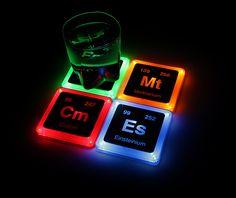 Radioactive Glowing Element Coaster Set