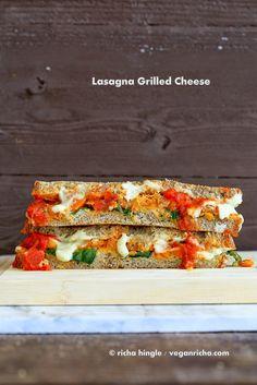 Lasagna Grilled Cheese. Nut-free Soy-free Vegan