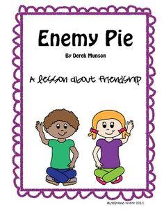 Enemy Pie book activity - Friendship Recipe