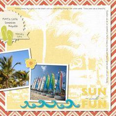 Sun & Fun Digital #Scrapbooking Layout from Creative Memories  http://www.creativememories.com