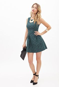 FOREVER 21 Floral Brocade A-Line Dress Is on sale now for -25 % !