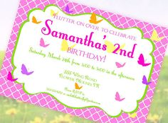 BUTTERFLY Invitation  Butterfly Collection  by GwynnWassonDesigns, $15.00