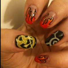 game nail, games, style, hunger game, fans, nails, fingerto nail, thing