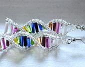 DNA Helix beaded earrings