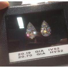 20+ Carat Matching Pearshape  Cut Diamond #diamonds #JCK #Jewelry Market Week #OKC #Jeweler