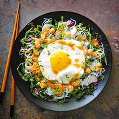 Comforting Pad Thai gets a lighter touch for spring, in salad form.