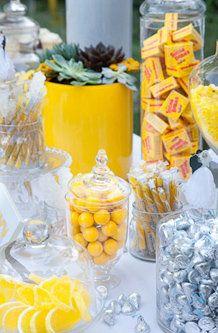 Candy Bar Favors - yellow wedding