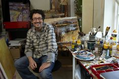 Chris Forsey, painter, Surrey Artists Open studios