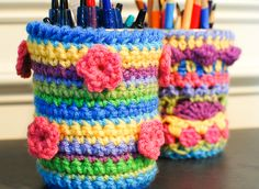 Crochet Mason Jar Cozy Pattern - Petals to Picots