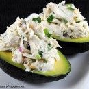 Cilantro and Lime Crab Salad in Avocado Halves crabsalad, avocado halv, food, yummi, recip, crab salad, limes, salads, lime crab