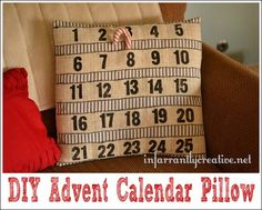 DIY Crafts | Christmas | Sewing Tutorial | Looking for advent calendar ideas? Count down the days until Christmas with this Ballard-inspired advent pillow!