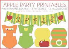 Peonie e semi di papavero: Apple Stampabili Partito: Scatole e Banner