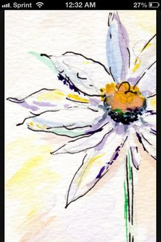 Daisy water color tattoo, I want something like this for our Daisy-dog... Gone much too soon. RIP Daisy :'-(