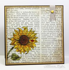Scripted Sunflower by thecircleguru - Cards and Paper Crafts at Splitcoaststampers
