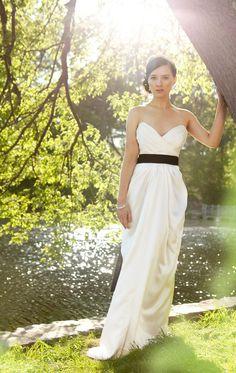 Strapless Grecian Silk Wedding Dress JuneLily Gown by rschone  etsy
