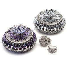 Trinket boxes in Swarovski crystals- Perfect for jewelry.