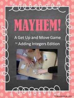 A Get Up and Go Adding Integers Game!