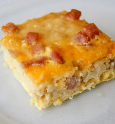 hash brown and ham breakfast quiche