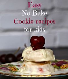 Easy No Bake Cookie Recipe Kids Can Make #recipes