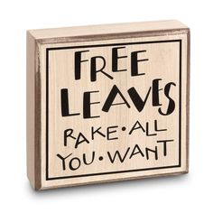 Free Leaves Box Sign