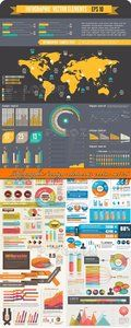 Infographic design elements vector set 26