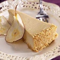 Pear & Ginger Cheesecake @cherylvincent04 - I pinned it, so this means I will make it someday!
