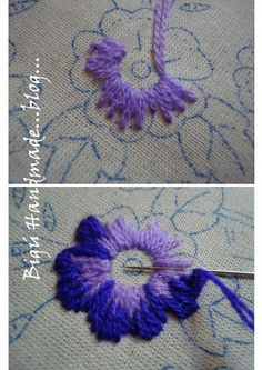 embroidered flowers, embroid flower, stitch, bordado, embroidery patterns flowers, make flowers, pansi, embroidery pillowcases