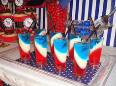 Red White and Blue Jello