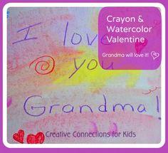 Crayon & Watercolor Valentine Creations
