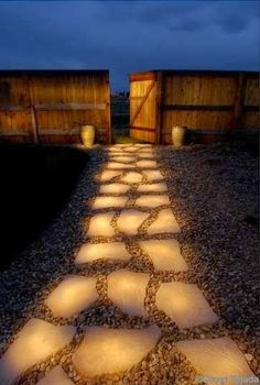 Line a pathway with rocks painted in glow in the dark paint