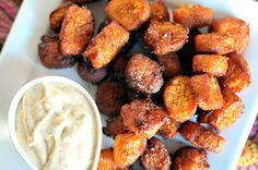 Sweet potato goat cheese tater tots